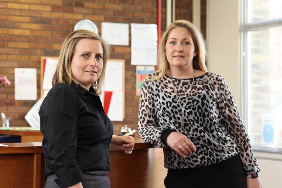 Julie Finley (right) with Kelly Vasey